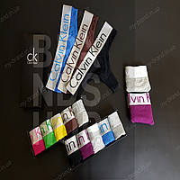 Набор женских стринг Calvin Klein Steel комплект трусиков келвин кляйн 5 шт хлопок