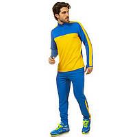 Костюм для тренировок по футболу LD-2003-BY (полиэстер, р-р L-3XL, синий-желтый)
