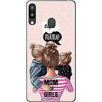Силиконовый чехол для Samsung M20 с рисунком Mom of Girls