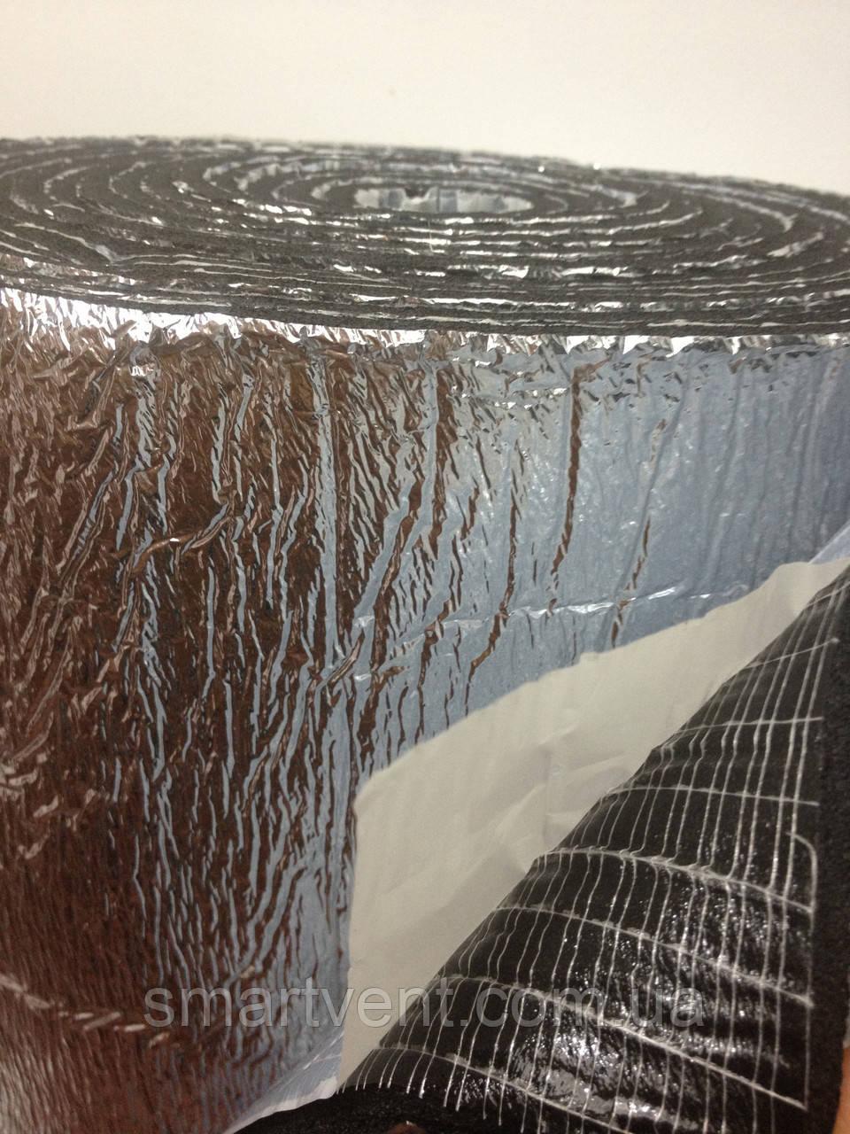 Самоклеющаяся изоляция вспененный каучук 10 мм