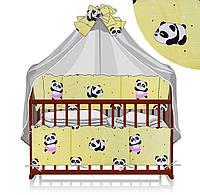 """Комплект детского постельного белья """"Панда"""". 7 предметов"""