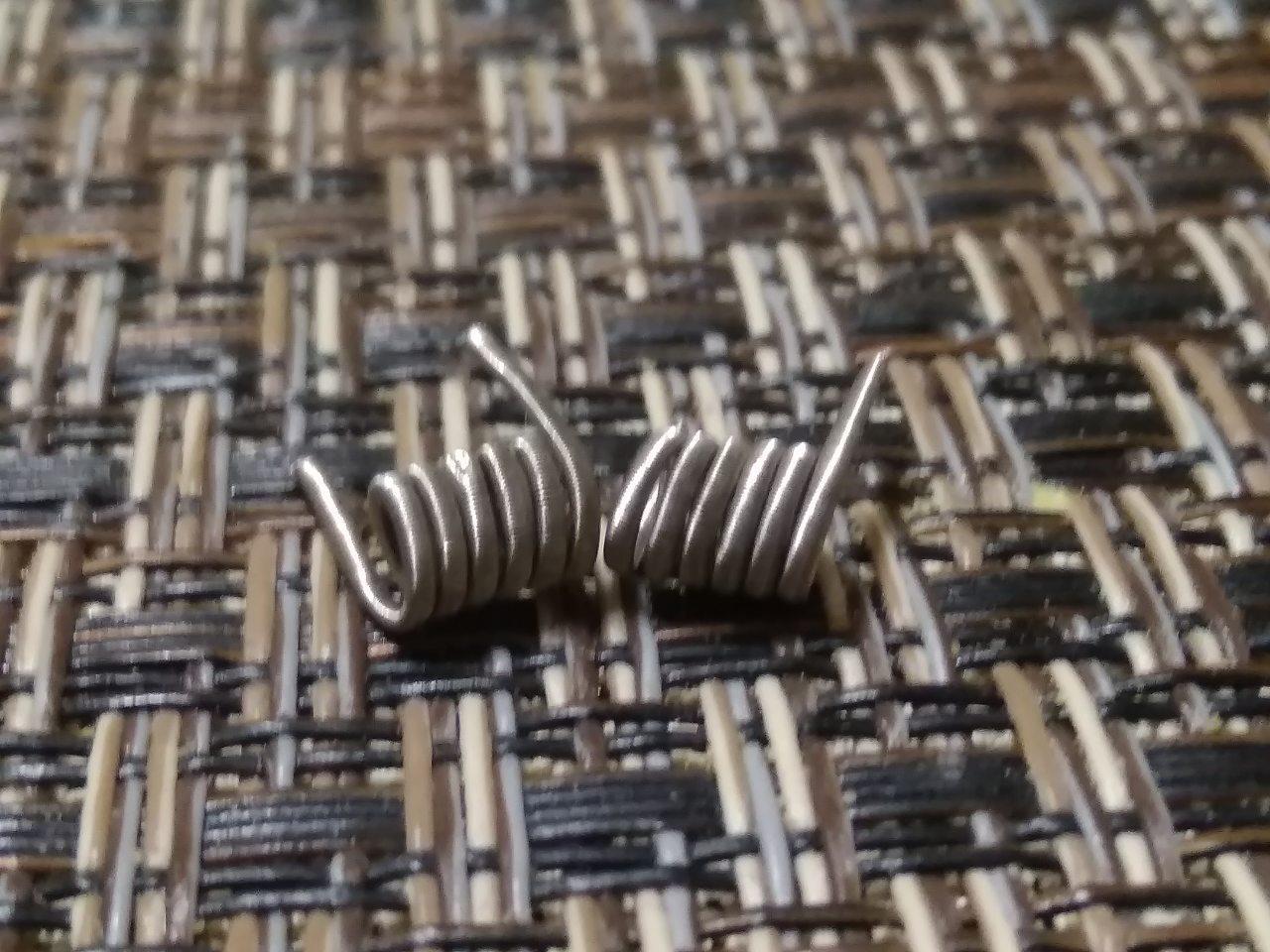 Fused clapton coil Готовая спираль Hand Made  0.09 ohm пара