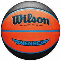 Мяч баскетбольный Wilson AVENGER 295 BSKT размер 7, резиновый, для зала-улицы (WTB5550XB0701)