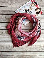 Женский тоненький красный платок