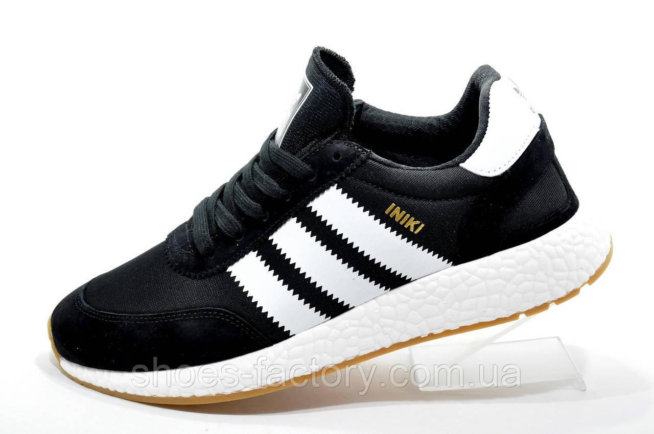 Кроссовки унисекс в стиле Adidas Originals Iniki Runner, Black\White