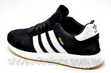 Кроссовки унисекс в стиле Adidas Originals Iniki Runner, Black\White, фото 3