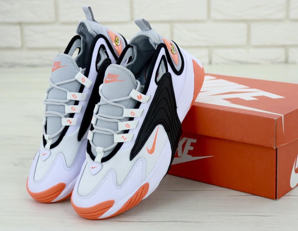 Мужские кроссовки в стиле Nike Zoom 2k White|Orange (Реплика ААА+)