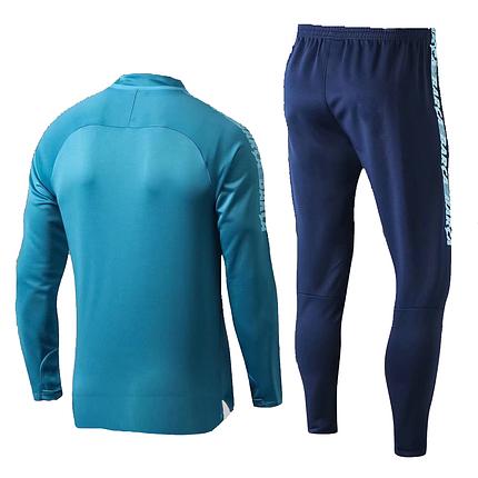 Спортивный костюм Барселона сине-голубой (Тренировочный клубный костюм Barcelona)+Горловик в подарок, фото 2
