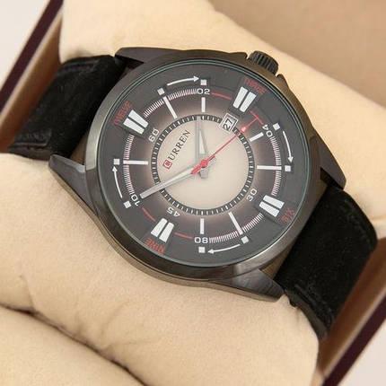 Часы Мужские Curren Gradient 8155 Black Куррен. Ремешок  Чоловічий годинник, ремінець. ГАРАНТИЯ!, фото 2