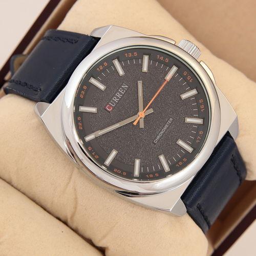 Часы Мужские Curren Classico 8168 Silver\Blue Куррен. Ремешок  Чоловічий годинник, ремінець. ГАРАНТИЯ !