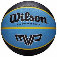 Мяч баскетбольный Wilson MVP 275 BSKT размер 5, резиновый, для улицы-зала (WTB9017XB05)