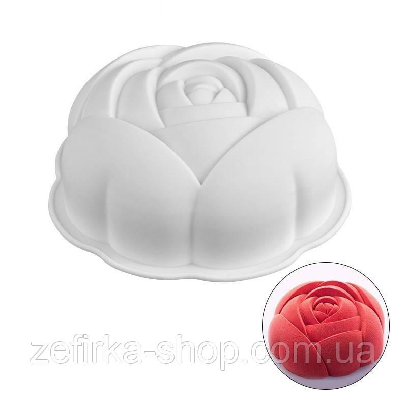 Силиконовая форма для десертов Роза