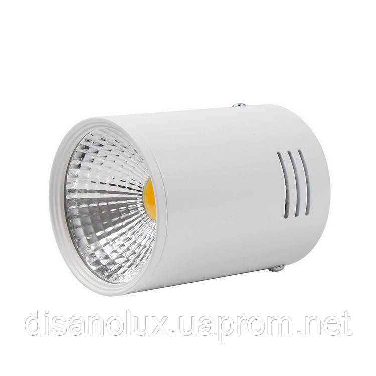 Светильник Downlight светодиодный LED накладной COB 20W белый 6500К