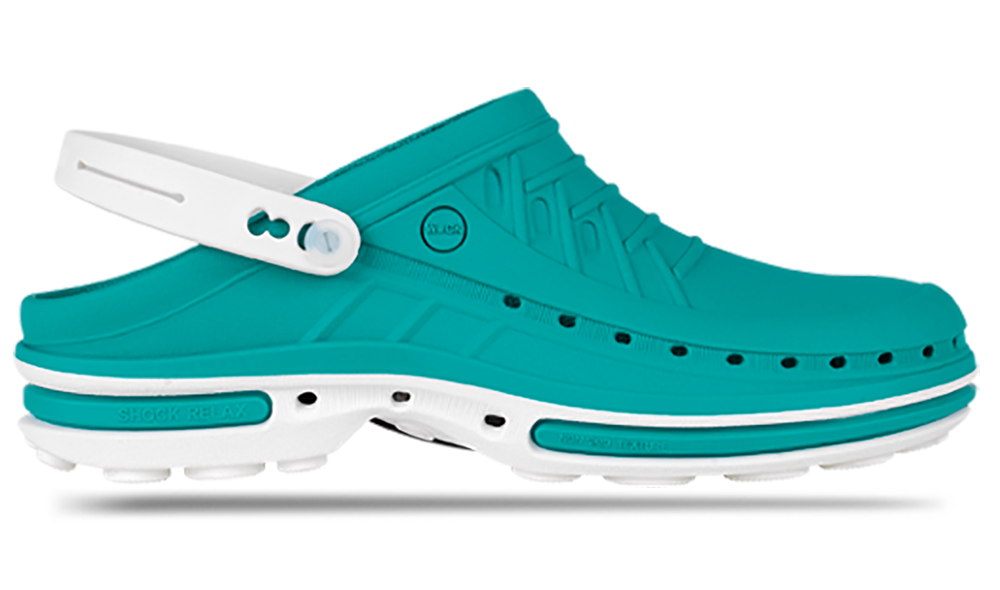 Профессиональная обувь WOCK модель CLOG, цвет зеленый, размер 36/37