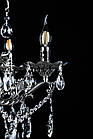 Класична люстра-свічка на 6 лампочок СветМира VL-3110/6 (срібна), фото 4