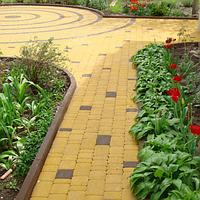 Тротуарная плитка Золотой Мандарин Старый город 6 см, желтый