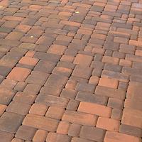 Тротуарная плитка Золотой Мандарин Старый город 6 см, сиена