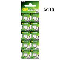 Батарейка GP Alkaline button cell 1.5v LR54, 189-U10, AG10 луженая