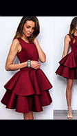 Платье двойной волан пишное 42 44 46 48 50 Р