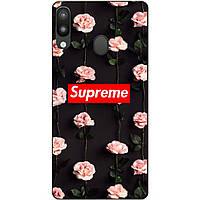 Силиконовый чехол для Samsung M20 с рисунком Supreme на розах