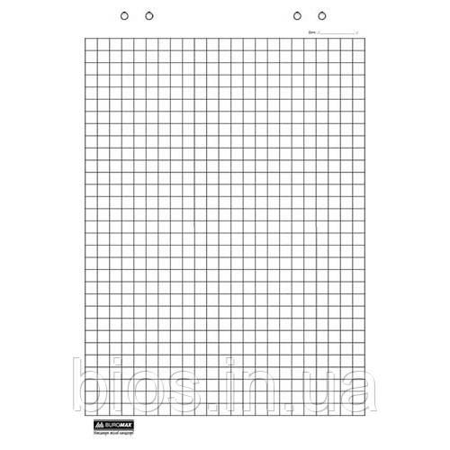Блок паперу д/фліпчартів 20арк 64х90см клітинка
