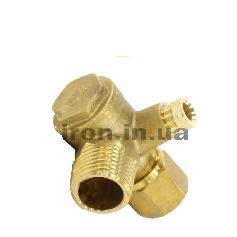 Обратный клапан с наружной резьбой  1/2 3/8 1/8 компрессора-прессостата