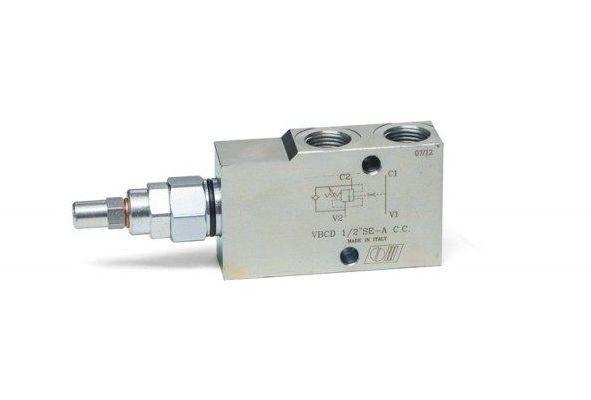 """Overcenter - гальмівний (контрбаланс) клапан (40 л/хв, G 3/8"""")"""
