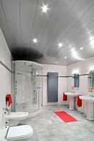 Реечный алюминиевый потолок Бард ППР- КФ-150 без межпанельного профиля цвет серебро металлик  готовый комплект
