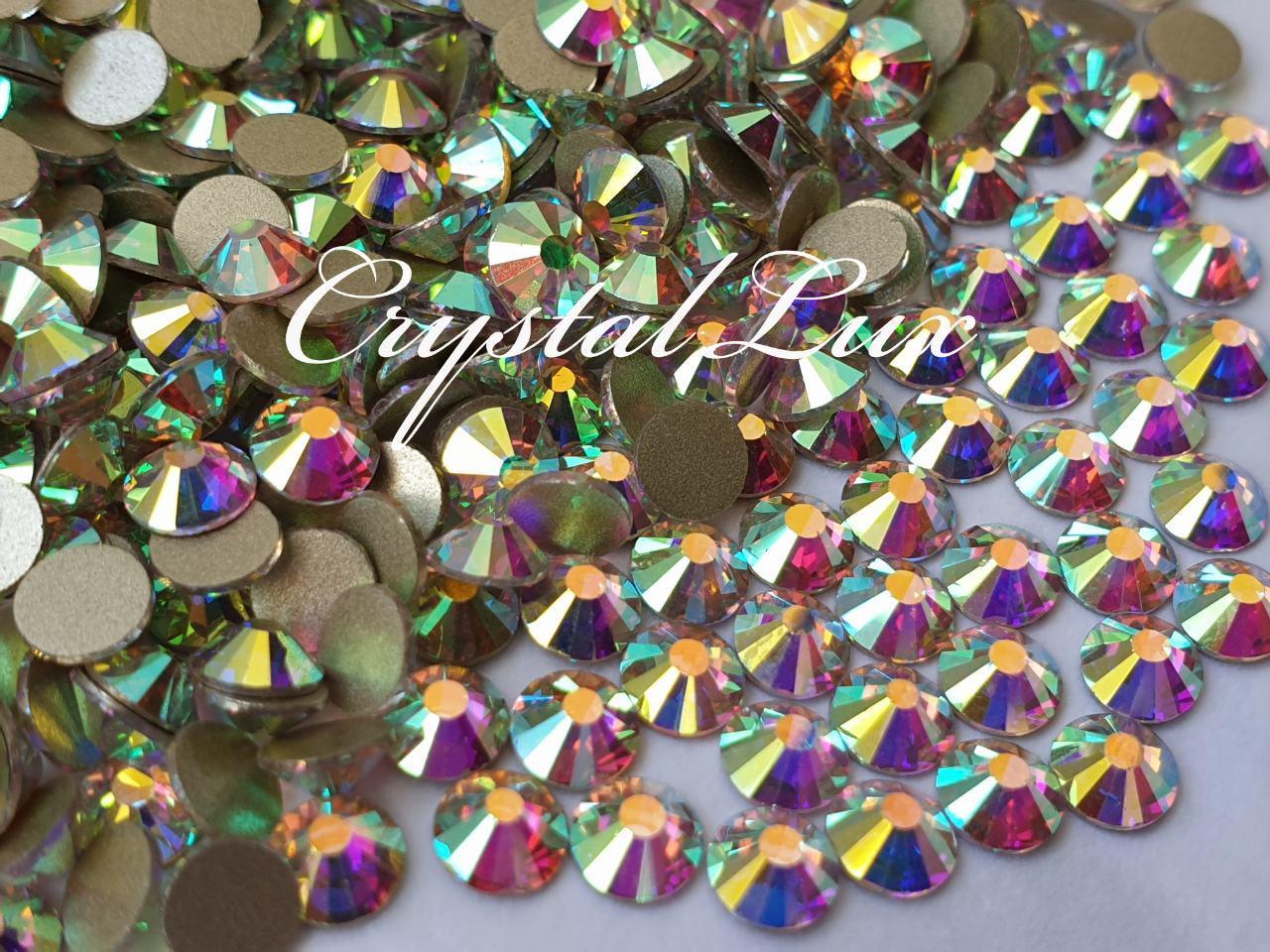 Стразы Lux ss12 Crystal AB (3.0mm) 1440шт