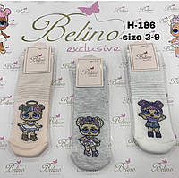 Носки с люрексом хлопковые для девочек с куклами LOL (0304/3)