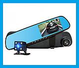Видеорегистратор Зеркало регистратор 2 камеры,автомобильный,парктроник, фото 2