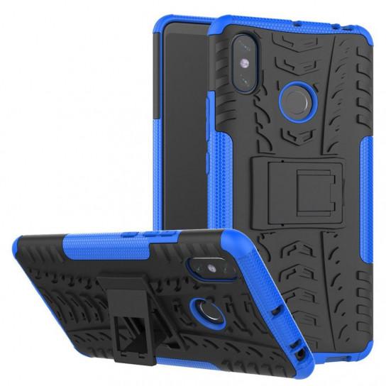 Противоударный двухслойный чехол Shield для Xiaomi Mi Max 3 с подставкой