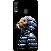 Силиконовый чехол для Samsung M20 с рисунком Кот в куртке