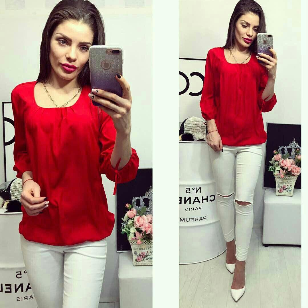 86e1391b876 Блузка арт 776 темно красная - Интернет магазин женской одежды Khan в Одессе