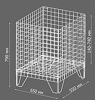 Контейнер торговый металлический для распродаж (регулируемое дно)