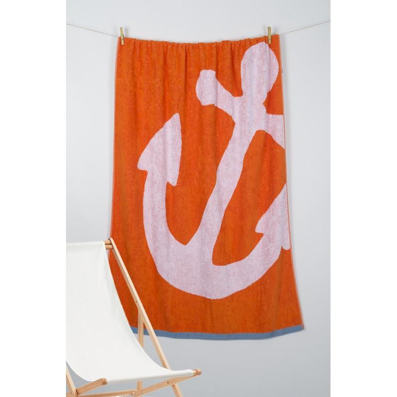 Полотенце Barine Pestemal - Anchor 100*150 Oranj