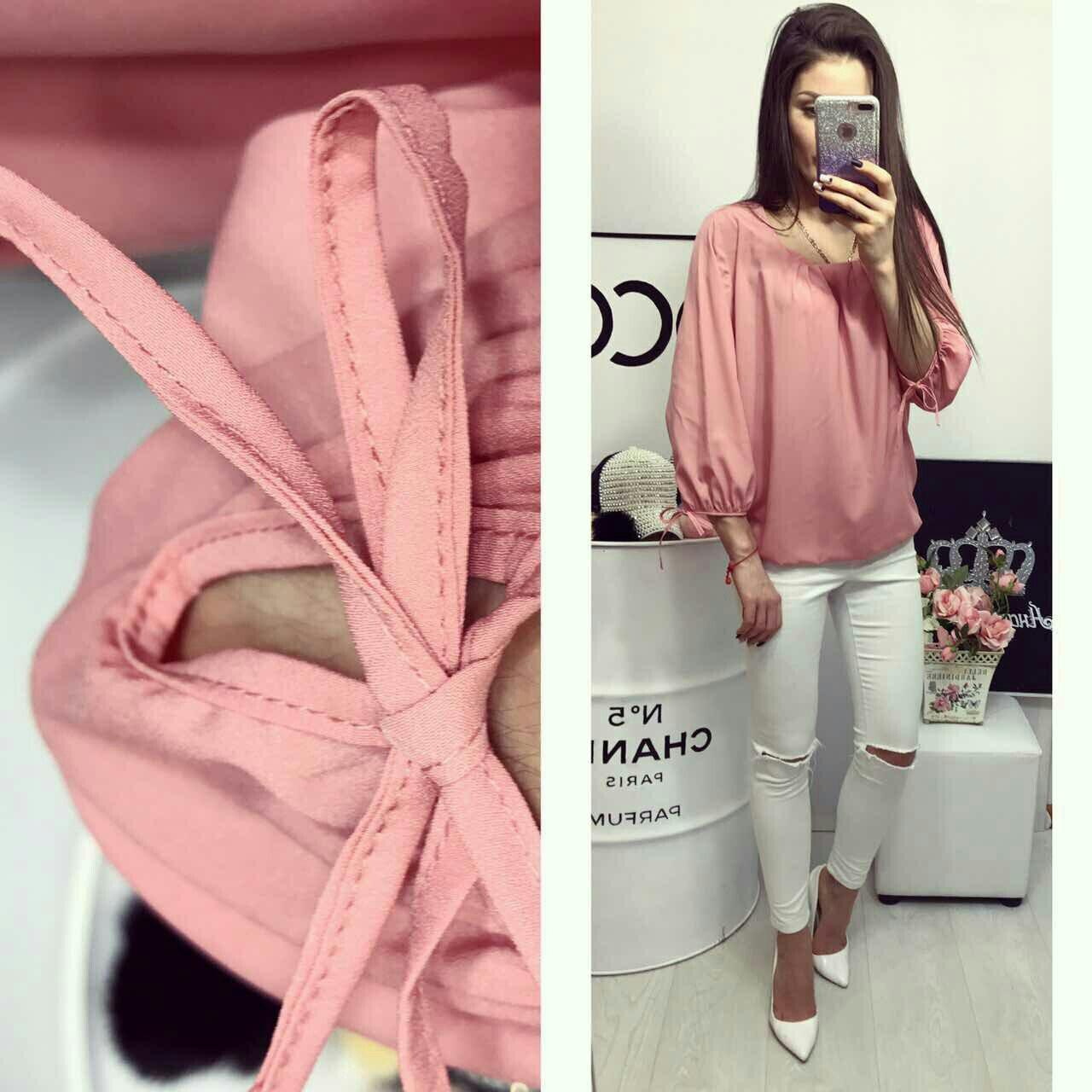 dd8a04cc809 Блузка арт 776 розовая - Интернет магазин женской одежды Khan в Одессе