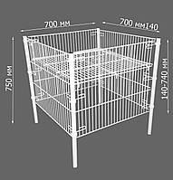 Контейнер металлический для торговли (регулируемое дно)