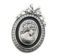 """Брошь """"Анелия"""" покрытая серебром (r08736e6)"""