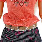 Кукольный костюм юбка и футболка для куклы Барби, фото 2