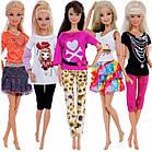 Кукольный костюм юбка и футболка для куклы Барби, фото 3