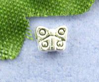 """Бусина """" Бабочка """", 3 мм x 4 мм, Античное серебро, Цинковый сплав, фото 1"""
