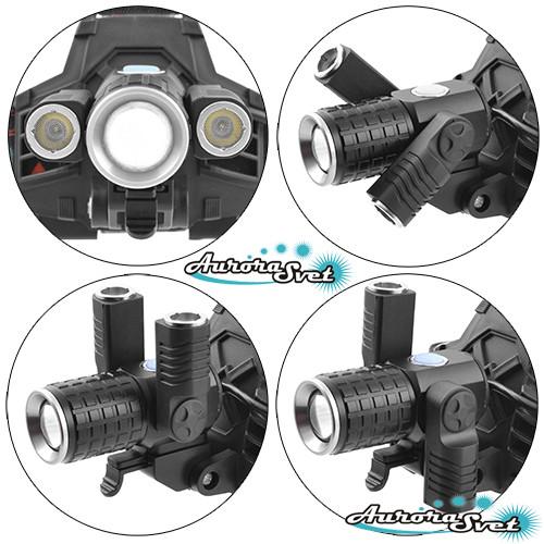Ліхтарик світлодіодний на лоб T6+2COB. LED ліхтарик. Світлодіодний ліхтар.