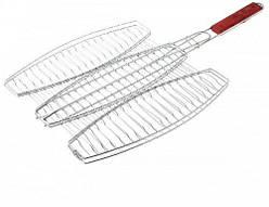 Решетка-гриль для рыбы тройная 40 х 37 см