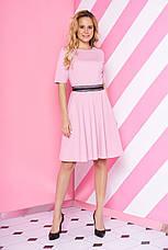"""Короткий трикотажна сукня з спідницею кльош і мереживом на талії """"S-69"""" м'ятна, фото 3"""