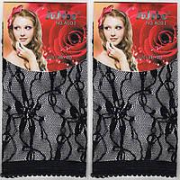 Носки женские гипюр Jujube чёрные