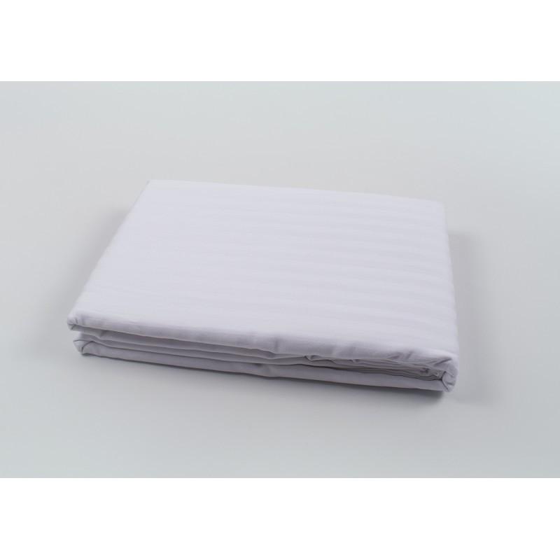 Підодіяльник Oliva Home - Сатин страйп 1*1 білий 200*220