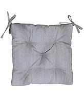 Подушка на стул лонета серая
