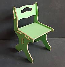 """Дитячий стільчик з дерева """"28см"""" (3-6 років) Зелений"""