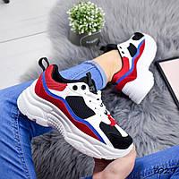 Кроссовки женские Neez белый + красный , женская обувь